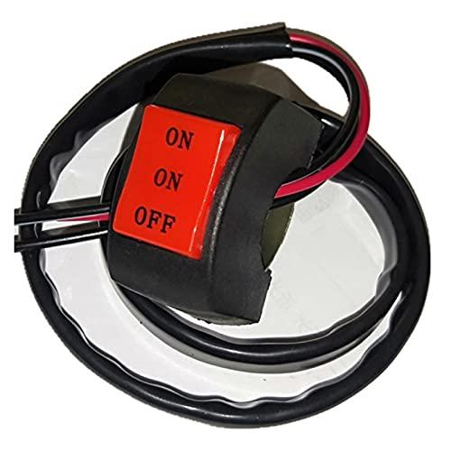 Controla el Interruptor de la luz Cambio de Motocicleta Universal de 22 mm EN/ON/Off Interruptor de botón del Conector Interruptor del Manillar del Manillar Fog Spot Spot Spotter CONTROLTURADOR Pa