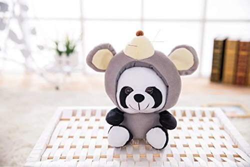 12 Zodiac Plüschtier Puppe Panda Plüschtier Set Abnehmbare Kappe 12 Genius Netter Panda 20cm Zodiac Rat