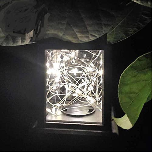 Luces de jardín LED solares, luces de jardín impermeables al aire libre, balcones colgantes, luces decorativas de balcón de casa, césped, terrazas, sombrillas, carpas, árboles, blanco cálido