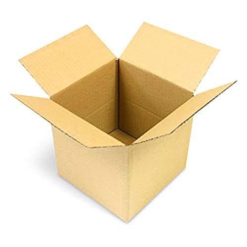 75 Faltkartons 150x150x150mm braun KK 06 1 wellig quadratisch Versandkarton kubisch für kleine Waren | XS Päckchen | DPD XS | GLS XS | kleine Kartons