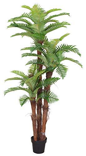 Decovego Palme Palmenbaum Königspalme Cocospalme Kunstpflanze Kunstbaum Künstliche Pflanze Echtholz 180cm
