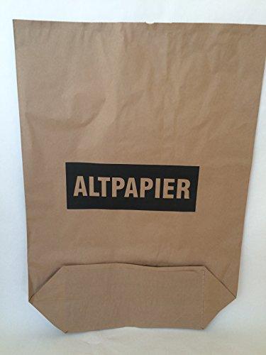 Rodenbacher Papieragentur GmbH 50 St. Papier-Bioabfallsäcke 120l Format 70x95x22 cm Motiv: Altpapier, 2lagig, mit extra Bodendeckblatt