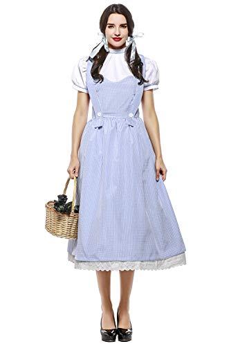xiemushop Disfraz De Cuento De Hadas para Mujer Vestido De Cosplay De Dorothy Traje De Carnaval De Halloween, L
