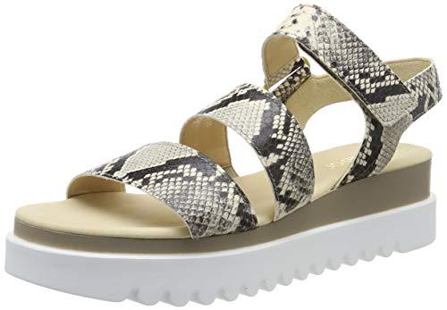 Gabor Shoes Women's Ankle Strap Sandals, Beige (Beige 52), 7.5 UK