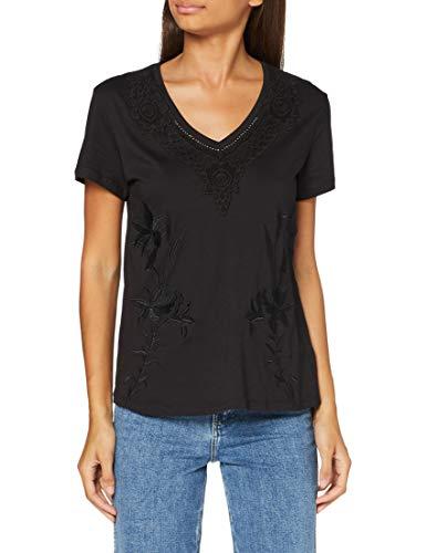 Desigual TS_RODAS Camiseta, Negro, S para Mujer