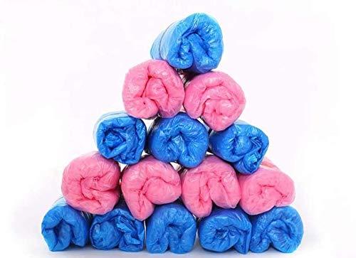 ZALA 200Stück blau & pink Einweg-Überschuhe für Schuhe und Stiefel zu schützen Teppiche & Böden. Reinigung Zubehör Powered