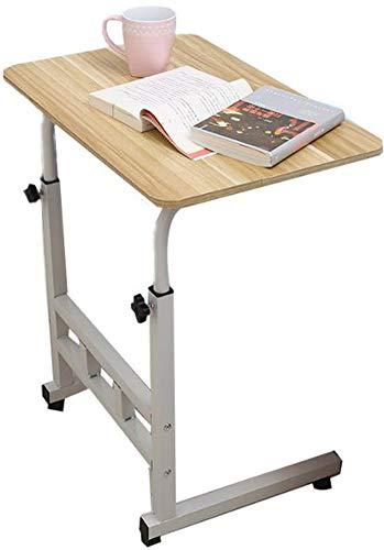 Wolong Verstelbare laptopstandaard, 60 x 40 cm, voor op de computer, staand model Movable w/wielen, beweegbare bijzettafel voor bed, bank, ziekenhuis, lees eten