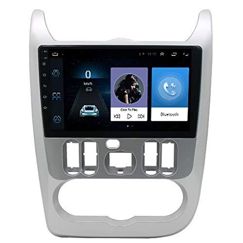 Amimilili para Renault Logan 2009-2013 Radio de Coche Estéreo Navegación GPS Android 9.0 Bluetooth FM Mandos del Volante WiFi Manos Libres Bluetooth+Cámara Trasera,8 Cores 4g+WiFi:4+64g