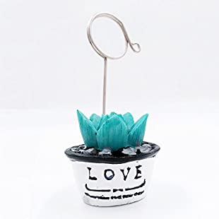 1-Set of Card Photo Holder, ZOMYEE Mini Plant Reserved Number Clip Name Note Memo Stand Office Supply Home Decoration Desk Small Clamps Stand Accessories. ...:Asagao