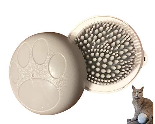 Spazzola in silicone per gatti e cani, spazzola per la cura del pelo rimuove peli al 99%, massaggia delicatamente la pelle per un pelo delicato, impermeabile, facile da pulire, grigio