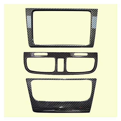 CCHAO 3 unids Center Center Console Air Vent Riona A/C Panel de Control Cubierta Frame Frame Fit para VW Golf GTI 6 MK6 Personlise