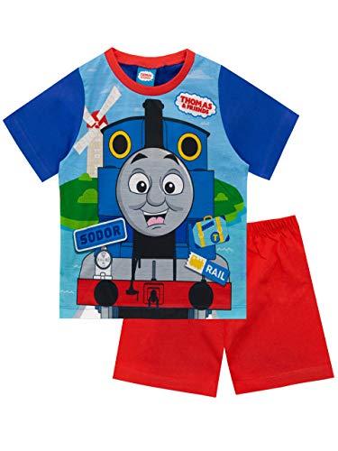 Thomas & Friends Pijamas Manga Corta para Niños Thomas The Tank Engine Rojo 3-4 Años
