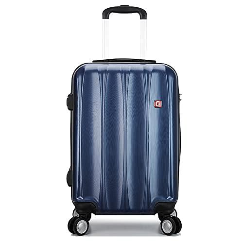 Universal Wheel Boarding case, Maletín de negocios, Maleta con ruedas, Maleta de equipaje Caja de contraseña 20/24/28 Color: Azul oscuro, Rojo Rosa, Gris Plata, azul marino (Azul) - GYTF02126547