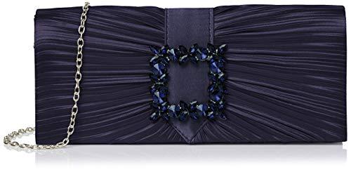 SwankySwans Chloe, Bolsa de Embrague para Mujer, Azul Marino, Medium