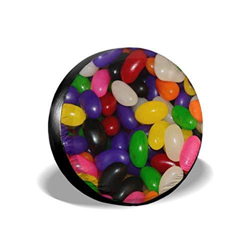 Jelly Beans Snoep Suiker Snoepjes Groen Paars Rood Grote Band Cover Aangepaste Reserveband Cover Band Cover Fit voor SUV en Veel Voertuig 14-17inch