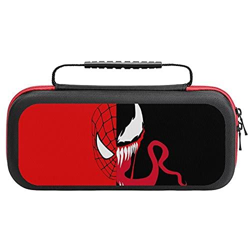 Venom Spiderman Housse de transport pour Nintendo Switch Lite – Étui de transport portable avec rangement pour jeux et accessoires Switch Lite