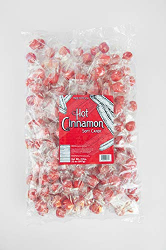 Stewart Candy Old Fashioned Pure Cane Sugar Candy Puff Balls -Made in the USA (Cinnamon Flavor - 2lb Refill Bag)