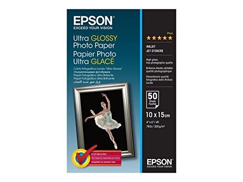Epson C13S041943 Ultra Glossy Photopapier Inkjet 300g/m2 100 x 150 mm 50 Blatt Pack