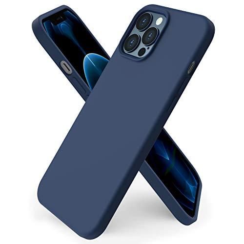 ORNARTO kompatibel mit iPhone 12 Pro Max 6,7 Silikon Hülle, Hülle Ultra Dünne Voller Schutz Flüssig Silikon Handyhülle Schutz für iPhone 12 Pro Max(2020) 6,7 Zoll Dunkelmarine