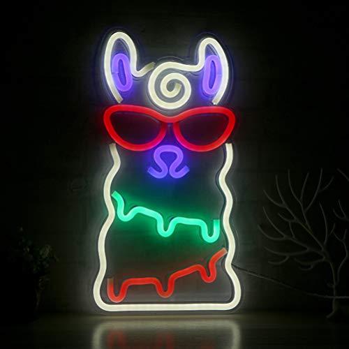 OSALADI - Pinzas luminosas en forma de alpaca, luces LED de neón para fiestas, decoración para Navidad, cumpleaños, boda, habitación de los niños, regalo para niños