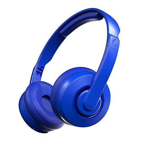 Skullcandy Cassette Kabellose On-Ear Bluetooth-Kopfhörer mit Mikrofon, Bis zu 22 Stunden Akkulaufzeit mit Abnehmbarem AUX-Kabel und Zusammenklappbarem Design, Kobaltblau
