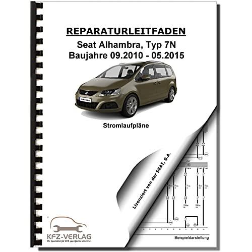SEAT Alhambra 7N 2010-2015 Schaltplan Stromlaufplan Verkabelung Elektrik Pläne