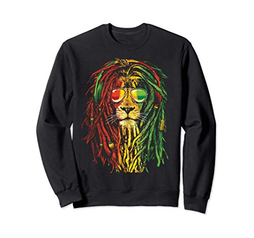 Rasta Reggae Lion Art por Rastafari Lover Sudadera