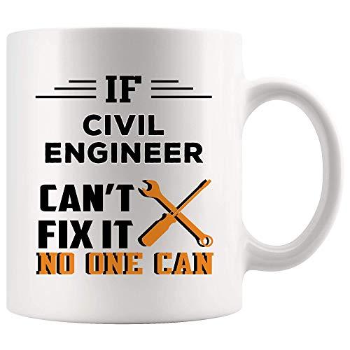Taza del ingeniero civil orgulloso de la superpotencia Taza de café Tazas de té Poder mágico el   Divertido Mejor regalo Ingeniería civil Estudiante Graduación Futuro Regalos más impresionante