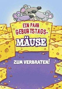 Musikkarten mit Überraschung 034a Mäuse zum Verbraten