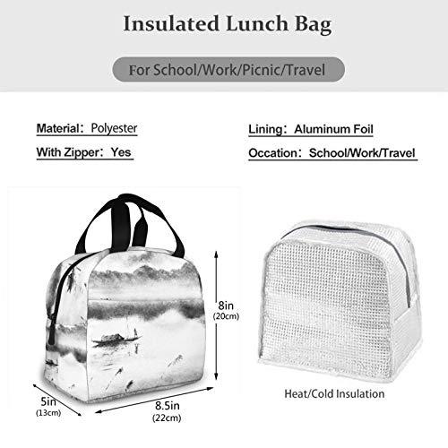 Bolsa Termica Comida Trabajo Almuerzo Porta Alimentos Infantil Niños Oficina Bolsa Calor Hombres Mujer Montañas Hombre Pez Hombre Barco