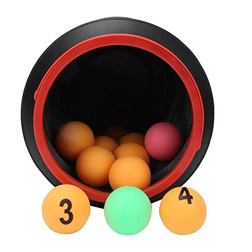 Leftwei Bolas de números de Apoyo para Juegos de ABS, Alta Elasticidad con Bola de Ping-Pong de Cubo Plegable, Bola de Apoyo para artículos de Actividad de descompresión de Oficina