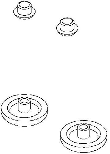 Keramag Sitzdeckelpuffer SILK für WC-Sitze, 598094000