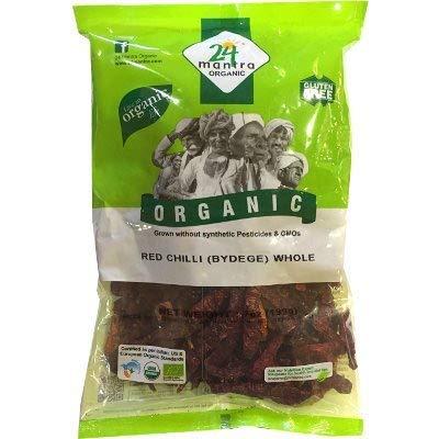 24 Mantra Organic Red Chilli Whole (Bydege) (7 oz bag)