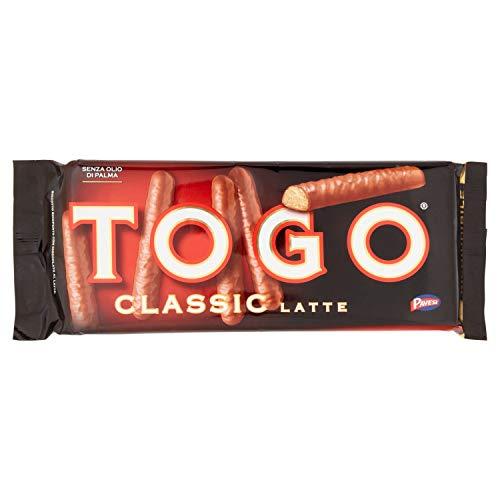 Pavesi - Snack Togo Classic con leche - Galleta recubierta de Chocolate...