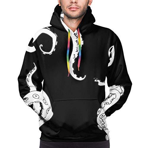 Men's Hoodie Sketch Octopus Tentacles Sweate Sweatshirt Men's Casual Hoodie Casual Top Hooded,L
