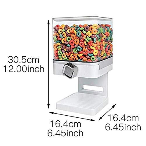 Find Bargain Food Container Seal Pot Double Dry Dispenser for Kitchen Cereal Drums Grain Storage Tan...