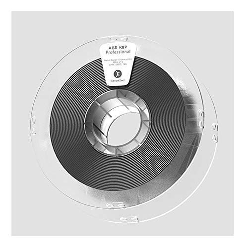 3D-Druckerfilament 1,75 mm, ABS K5P-Material 1 kg, keine Sprühfarbe erforderlich, um eine metallische Textur zu erhalten-Schwarz