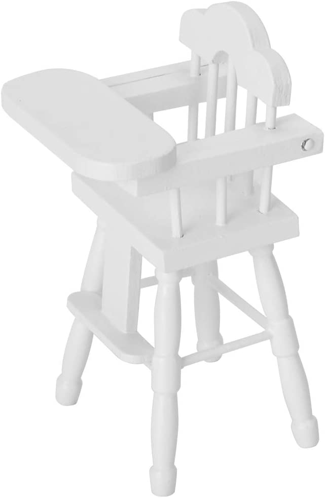 Tmtop Miniature Dining High Chair Model Furniture for 1/12 Doll House Accessories