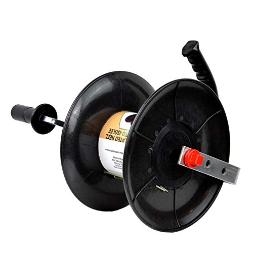Zareba 145 Self-Insulated Wire Reel, Black