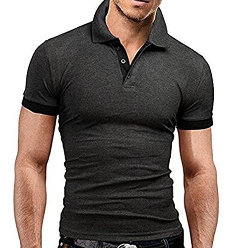 Camiseta De Verano Camisa De Manga Corta para Hombre Camisa De Polo De Solapa con Tendencia A La Moda