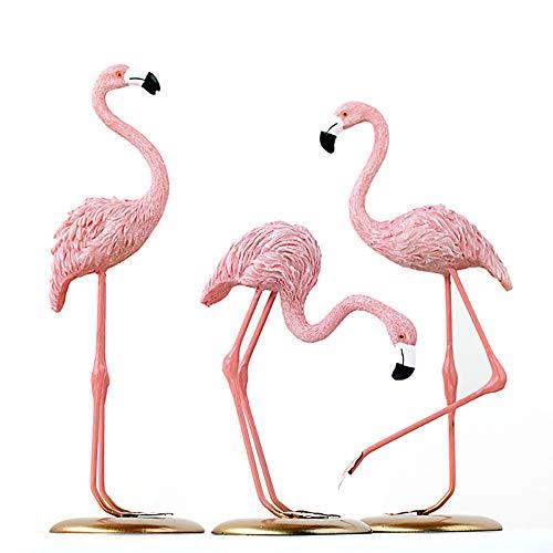 Pink Flamingo Skulptur Tischdekoration Flamingo Standing Kunst-Ausgangsdekoration Ornament Flamingo Dekor Figur Tischdekoration Geschenke für Freunde