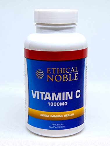 Vitamin C 1000mg - 100 Capsules - for The Maintenance of a Normal Immune System - 3 Months Supply - UK Made