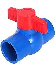DULALA Válvulas de Deslizamiento Puerto Completo Palanca de la manija roja Válvula de Bola de U-PVC Azul (40 mm x 40 mm)