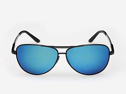 Caminante El Nuevo Aluminio Magnesio Polarizado Gafas De Sol Hombres Conducir Espejo De Color Brillante Espejo, Blue Capullos