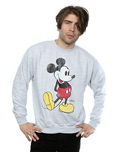 Disney Hombre Mickey Mouse Classic Kick Camisa de Entrenamiento