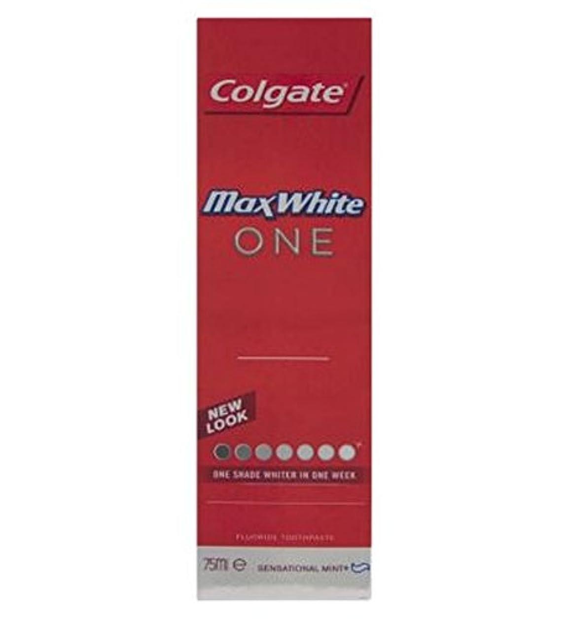 接続詞戻るロックコルゲートマックスホワイト1新鮮な歯磨き粉75ミリリットル (Colgate) (x2) - Colgate Max White One Fresh toothpaste 75ml (Pack of 2) [並行輸入品]