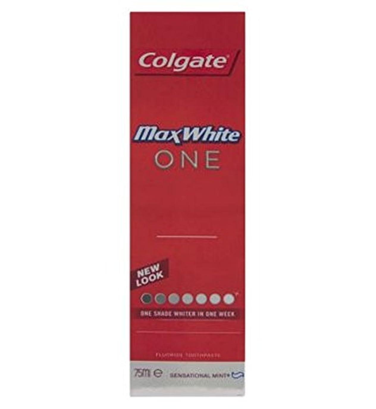 傷つける最終的に手のひらColgate Max White One Fresh toothpaste 75ml - コルゲートマックスホワイト1新鮮な歯磨き粉75ミリリットル (Colgate) [並行輸入品]