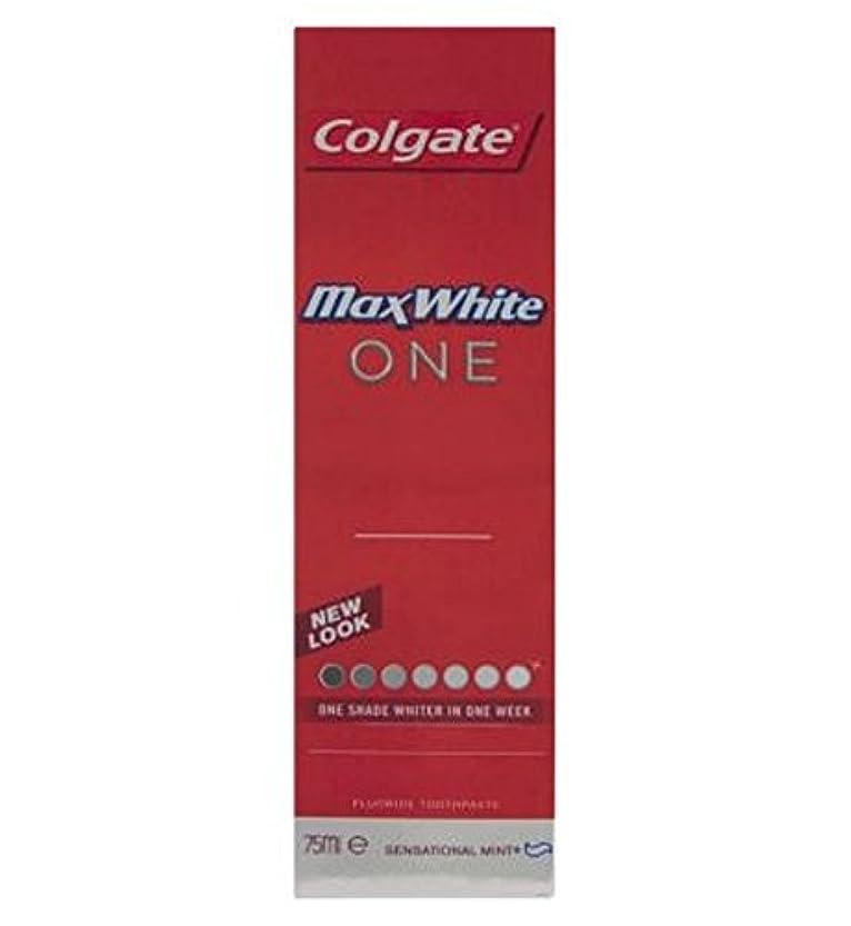 グッゲンハイム美術館くるみ起訴するColgate Max White One Fresh toothpaste 75ml - コルゲートマックスホワイト1新鮮な歯磨き粉75ミリリットル (Colgate) [並行輸入品]