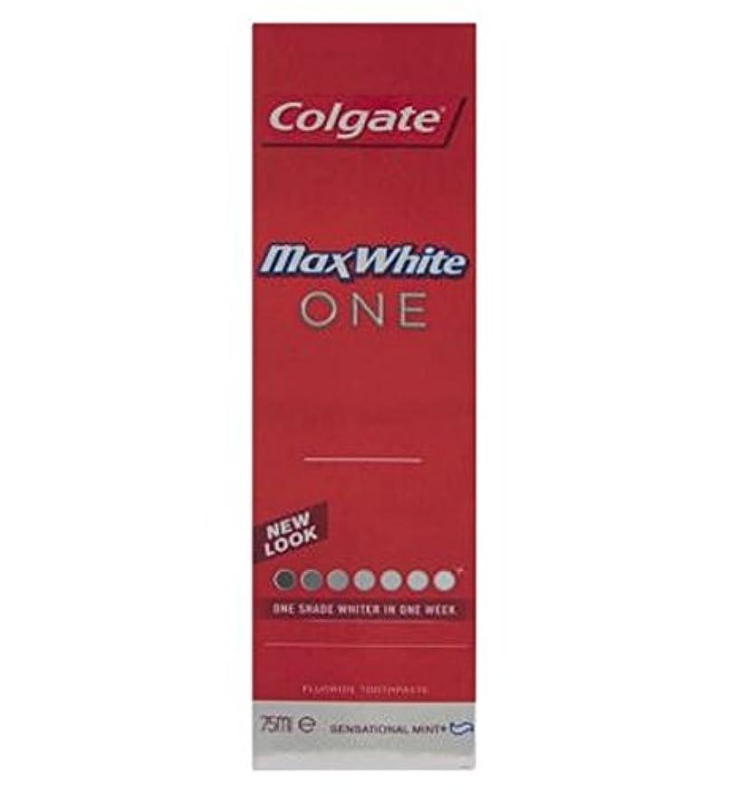 事故条件付き邪悪なColgate Max White One Fresh toothpaste 75ml - コルゲートマックスホワイト1新鮮な歯磨き粉75ミリリットル (Colgate) [並行輸入品]