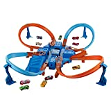 Hot Wheels - Criss Cross Crash, Pista de Coches (Mattel DTN42)